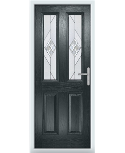 The Cardiff Composite Door in Grey (Anthracite) with Eclipse Glazing