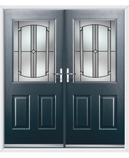 Windsor French Rockdoor in Anthracite Grey with Ellipse