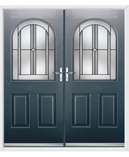 Kentucky French Rockdoor in Anthracite Grey with Ellipse
