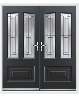 Illinois French Rockdoor in Anthracite Grey with Empire