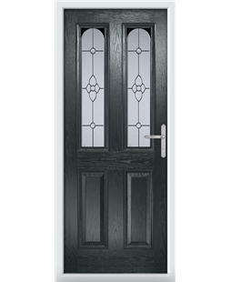 The Aberdeen Composite Door in Grey (Anthracite) with Finesse Glazing