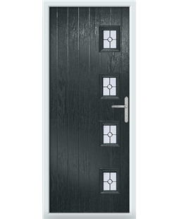 The Preston Composite Door in Grey (Anthracite) with Finesse Glazing