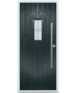 The Zetland Composite Door in Grey (Anthracite) with Finesse Glazing