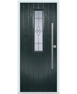 The York Composite Door in Grey (Anthracite) with Finesse Glazing