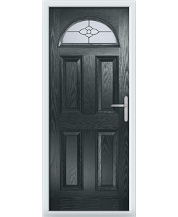 The Derby Composite Door in Grey (Anthracite) with Finesse Glazing