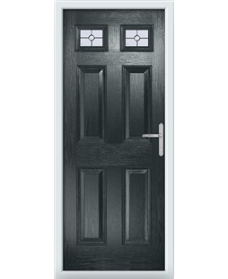 The Ipswich Composite Door in Grey (Anthracite) with Finesse Glazing