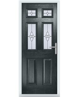 The Oxford Composite Door in Grey (Anthracite) with Finesse Glazing