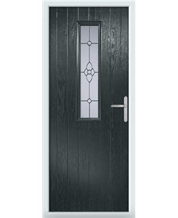The Sheffield Composite Door in Grey (Anthracite) with Finesse Glazing