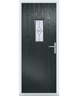 The Taunton Composite Door in Grey (Anthracite) with Finesse Glazing