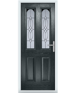 The Aberdeen Composite Door in Grey (Anthracite) with Flair Glazing