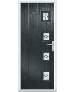 The Preston Composite Door in Grey (Anthracite) with Flair Glazing