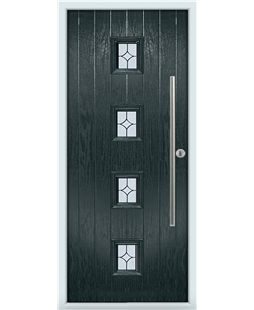The Leicester Composite Door in Grey (Anthracite) with Flair Glazing