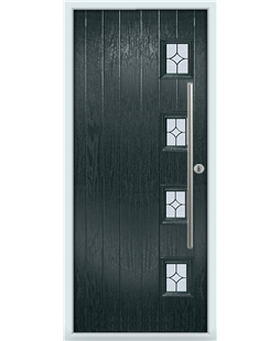 The Norwich Composite Door in Grey (Anthracite) with Flair Glazing