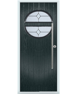 The Xenia Composite Door in Grey (Anthracite) with Flair Glazing
