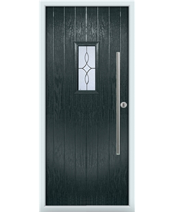 The Zetland Composite Door in Grey (Anthracite) with Flair Glazing