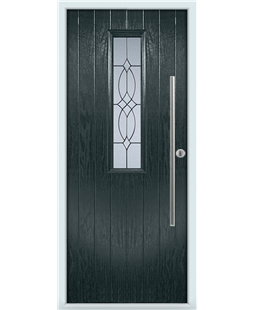 The York Composite Door in Grey (Anthracite) with Flair Glazing