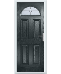 The Derby Composite Door in Grey (Anthracite) with Flair Glazing