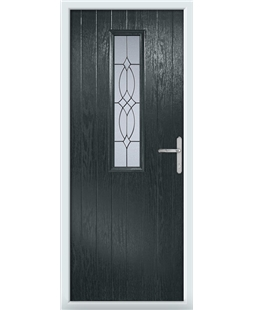 The Sheffield Composite Door in Grey (Anthracite) with Flair Glazing