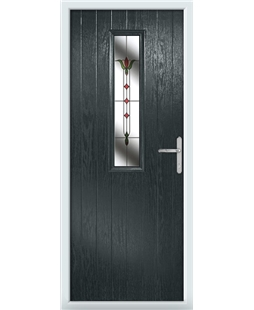 The Sheffield Composite Door in Grey (Anthracite) with Fleur