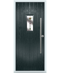 The Zetland Composite Door in Grey (Anthracite) with Fleur