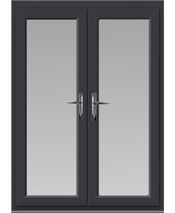 uPVC French Door in Anthracite Grey