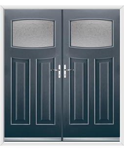 Newark French Rockdoor in Anthracite Grey with Gluechip Glazing