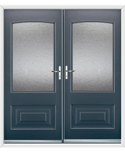 Portland French Rockdoor in Anthracite Grey with Gluechip Glazing