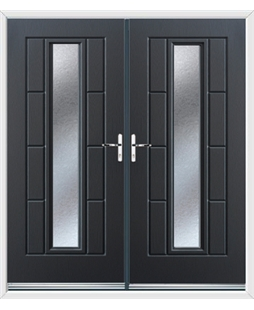 Vermont French Rockdoor in Anthracite Grey with Gluechip Glazing