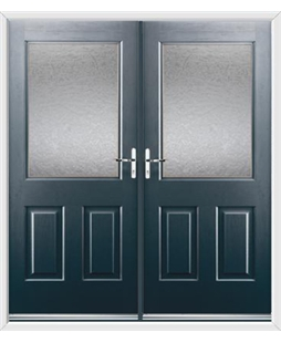 Windsor French Rockdoor in Anthracite Grey with Gluechip Glazing