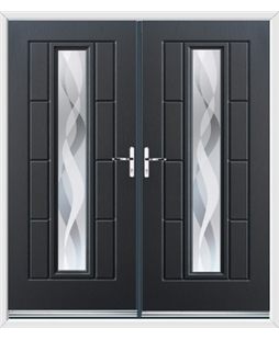 Vermont French Rockdoor in Anthracite Grey with Haze