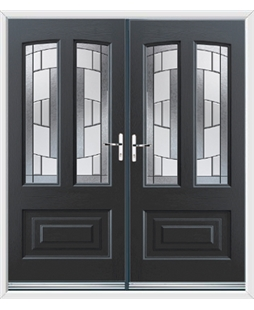 Illinois French Rockdoor in Anthracite Grey with Inspire