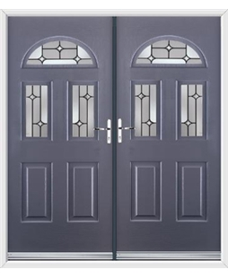 Tennessee French Rockdoor in Anthracite Grey with Linear