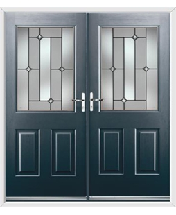 Windsor French Rockdoor in Anthracite Grey with Linear