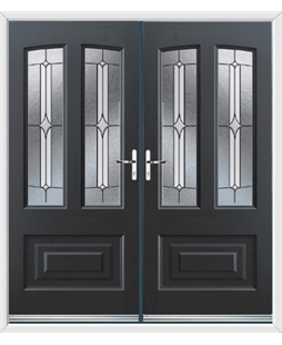 Illinois French Rockdoor in Anthracite Grey with Pinnacle