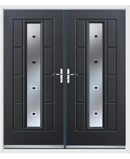 Vermont French Rockdoor in Anthracite Grey with Quadra