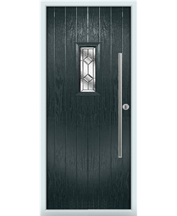The Zetland Composite Door in Grey (Anthracite) with Simplicity