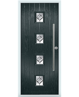 The Leicester Composite Door in Grey (Anthracite) with Simplicity