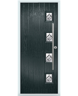 The Norwich Composite Door in Grey (Anthracite) with Simplicity