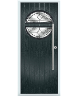 The Xenia Composite Door in Grey (Anthracite) with Simplicity