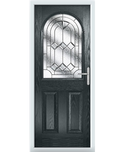 The Edinburgh Composite Door in Grey (Anthracite) with Simplicity