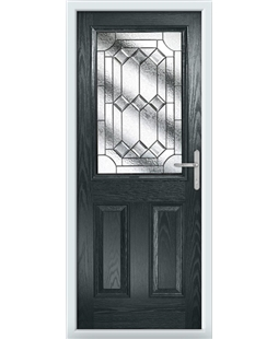 The Farnborough Composite Door in Grey (Anthracite) with Simplicity