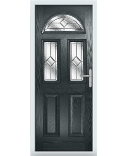 The Glasgow Composite Door in Grey (Anthracite) with Simplicity