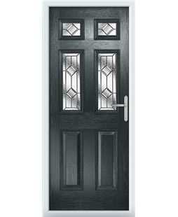 The Oxford Composite Door in Grey (Anthracite) with Simplicity