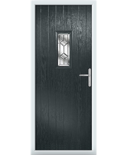 The Taunton Composite Door in Grey (Anthracite) with Simplicity