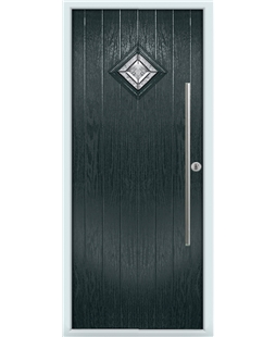 The Wolverhampton Composite Door in Grey (Anthracite) with Simplicity