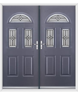 Tennessee French Rockdoor in Anthracite Grey with Summit