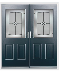 Windsor French Rockdoor in Anthracite Grey with Summit