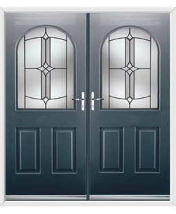 Kentucky French Rockdoor in Anthracite Grey with Summit