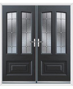 Illinois French Rockdoor in Anthracite Grey with Trinity