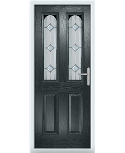 The Aberdeen Composite Door in Grey (Anthracite) with Simplicity